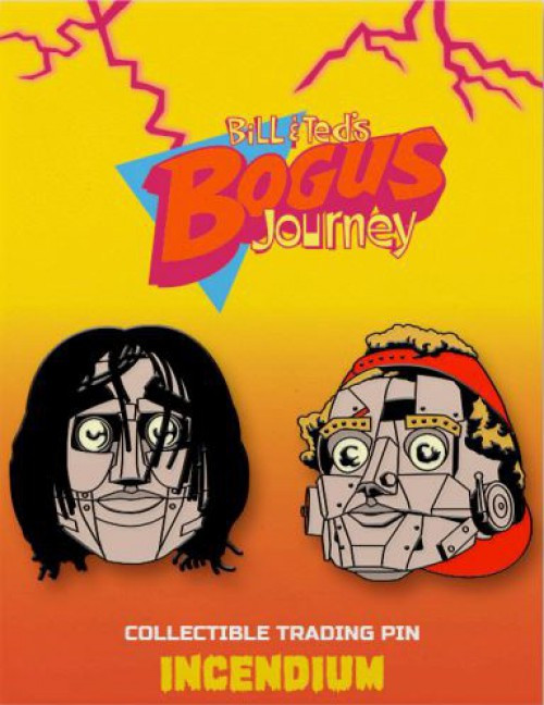 Bill & Ted's Bogus Journey Robot Bill & Ted 2-Inch Set of 2 Lapel Pins