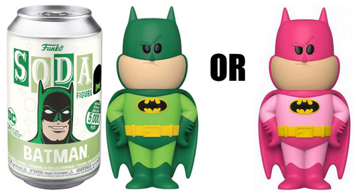 Funko DC Vinyl Soda Batman Exclusive Vinyl Figure [1 RANDOM Figure! Look For The Chase!, Green]