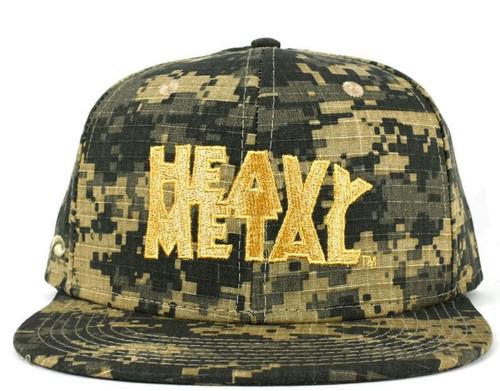 Heavy Metal Logo Snap Back Hat [Camo]