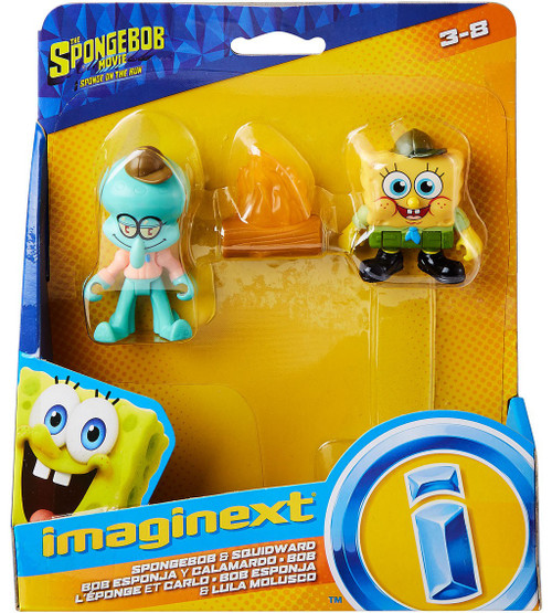 Fisher Price Spongebob Squarepants Imaginext Sponge on the Run Spongebob & Squidward Mini Figure 2-Pack