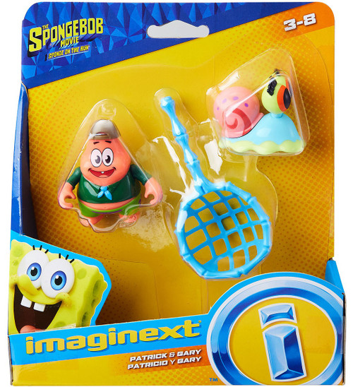 Fisher Price Spongebob Squarepants Imaginext Sponge on the Run Patrick & Gary Mini Figure 2-Pack
