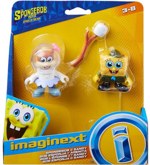 Fisher Price Spongebob Squarepants Imaginext Sponge on the Run Spongebob & Sandy Mini Figure 2-Pack