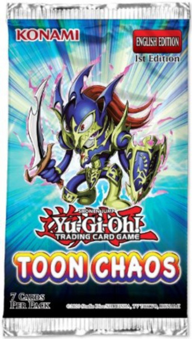 YuGiOh Trading Card Game Toon Chaos (1st Edition) Booster Pack [7 Cards]