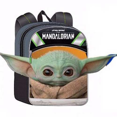 Star Wars The Mandalorian Baby Yoda / Grogu Half Moon 16-Inch Backpack [The Child]