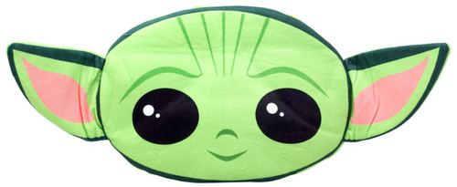 Star Wars The Mandalorian Baby Yoda / Grogu Head-Shaped Plush Pillow 18-Inch Backpack [The Child]