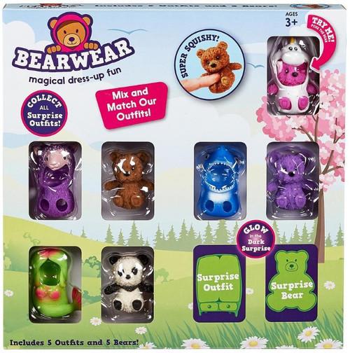 Bearwear Magical Dress Up Fun Exclusive Squishy Bear 5-Pack