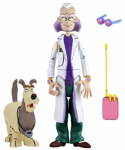 NECA Back to the Future The Animated Series Toony Classics Doc Brown & Einstein Action Figure