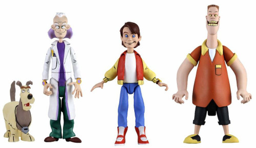 NECA Back to the Future The Animated Series Toony Classics Doc Brown, Marty McFly & Biff Set of 3 Action Figures