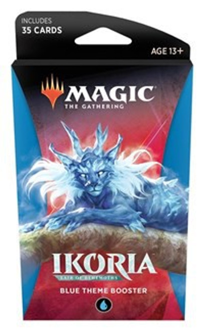 MtG Trading Card Game Ikoria: Lair of Behemoths Blue Theme Booster Pack [35 Cards]