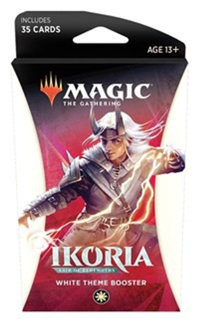 MtG Trading Card Game Ikoria: Lair of Behemoths White Theme Booster Pack [35 Cards]