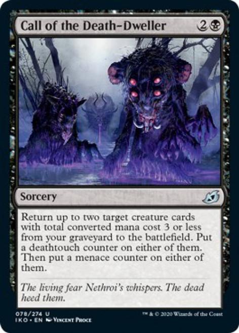 MtG Ikoria: Lair of Behemoths Uncommon Call of the Death-Dweller #78