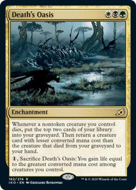 MtG Ikoria: Lair of Behemoths Rare Death's Oasis #182