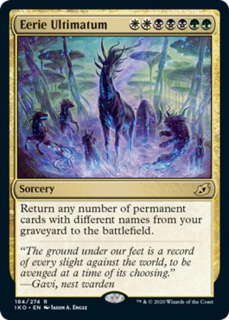 MtG Ikoria: Lair of Behemoths Rare Eerie Ultimatum #184