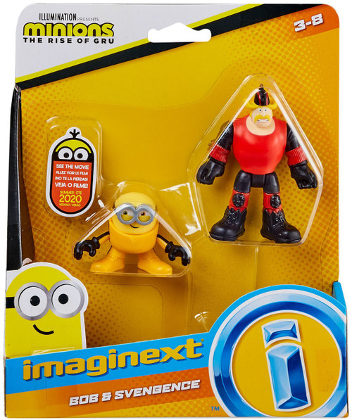 Fisher Price Despicable Me Minions: Rise of Gru Imaginext Bob & Svengence Mini Figure 2-Pack