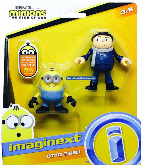Fisher Price Despicable Me Minions: Rise of Gru Imaginext Otto & Gru Mini Figure 2-Pack