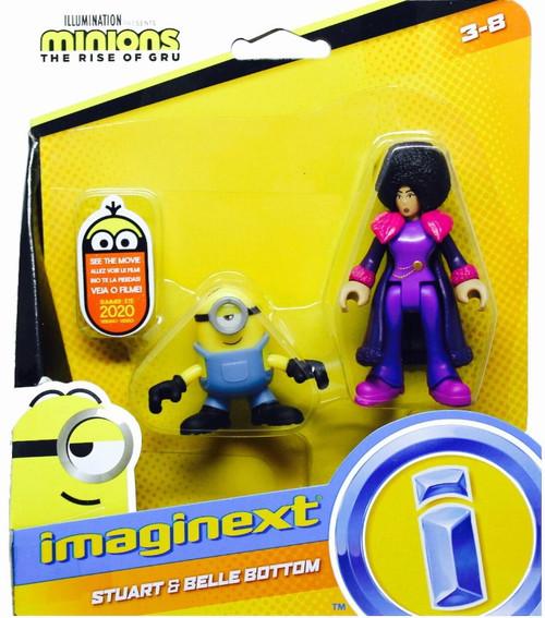 Fisher Price Despicable Me Minions: Rise of Gru Imaginext Stuart & Belle Bottom Mini Figure 2-Pack