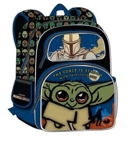Star Wars The Mandalorian Baby Yoda / Grogu 3-D 16-Inch Backpack [Printed Straps]