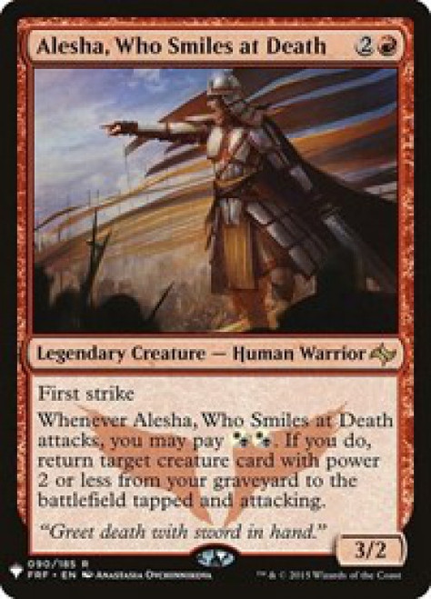 MtG Mystery Booster / The List Rare Alesha, Who Smiles at Death #90