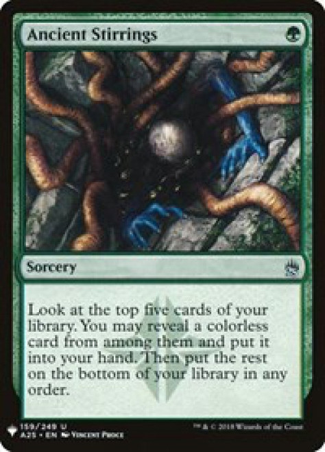 MtG Mystery Booster / The List Uncommon Ancient Stirrings #159