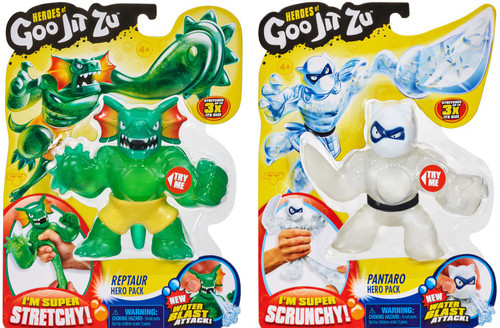 Heroes of Goo Jit Zu Reptaur & Pantaro COMBO of 2 Action Figures [Water Blast]