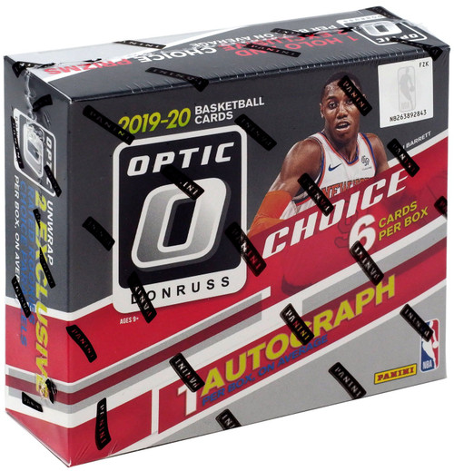 NBA Panini 2019-20 Donruss Optic Choice Basketball Trading Card HOBBY Box [6 Cards, 1 Autograph!]