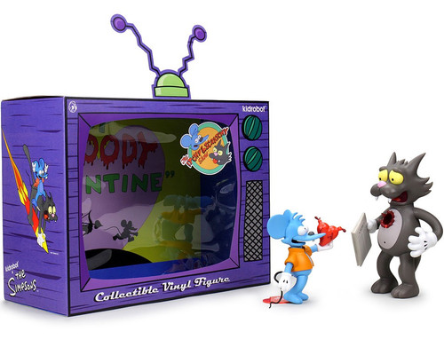 The Simpsons Itchy & Scratchy 7-Inch Medium Vinyl Figure (Pre-Order ships April)