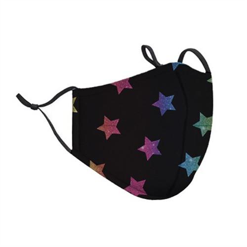 Top Trenz Neoprene, Reusable & Washable Multi Star Face Mask [Kids Ages 3-7]