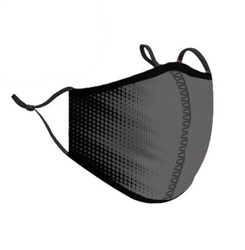 Top Trenz Neoprene, Reusable & Washable Black and Gray Blast Face Mask [Adult Men]