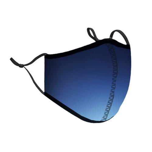 Top Trenz Neoprene, Reusable & Washable Blue Ombre Face Mask [Adult Men]