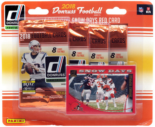 NFL Panini 2018 Donruss Football Trading Card Blister 4-Pack [Exclusive Snow Days Card]
