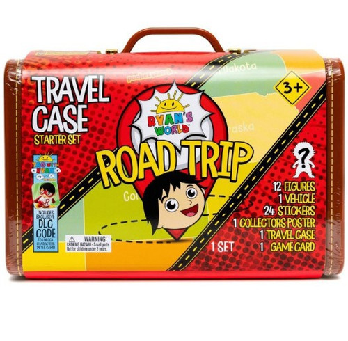 Ryan's World Road Trip Travel Case Exclusive Mystery Suitcase [Includes 12 RANDOM Micro Figures!]