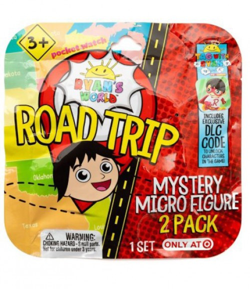 Ryan's World Road Trip Micro Figure Exclusive Mystery 2-Pack [2 RANDOM Figures!]