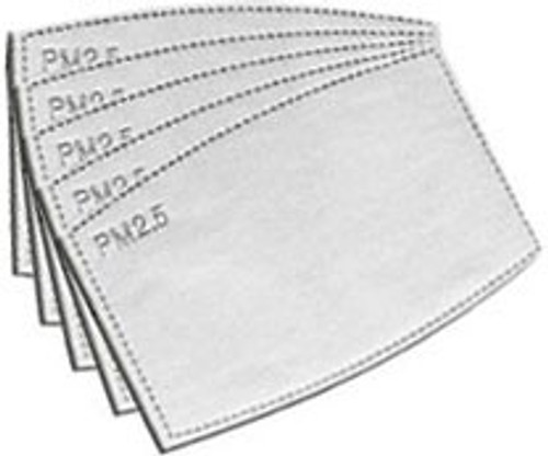 Top Trenz Disposable Filters 5-Pack [Fits Men's Mask, ONLY FOR THE TOP TRENZ MASKS!]