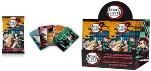 Demon Slayer Holographic Trading Card Sticker Box [24 Packs] (Pre-Order ships January)