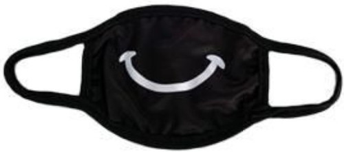 Lyn Dorf Cotton / Polyester 2-Ply Reusable & Washable Smiley Face Face Mask [Adult Size] (Pre-Order ships June)