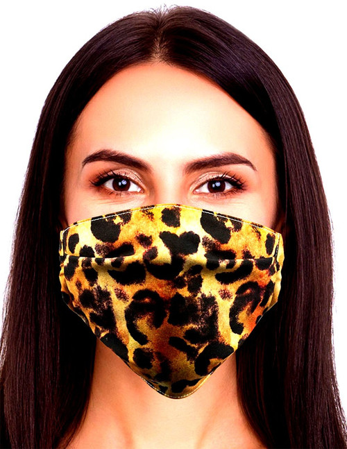 Gotta Get it Gifts Polyester / Spandex, Fabric, Adjustable, 2-Layer Reusable & Washable Leopard Face Mask [One Size Fits All]