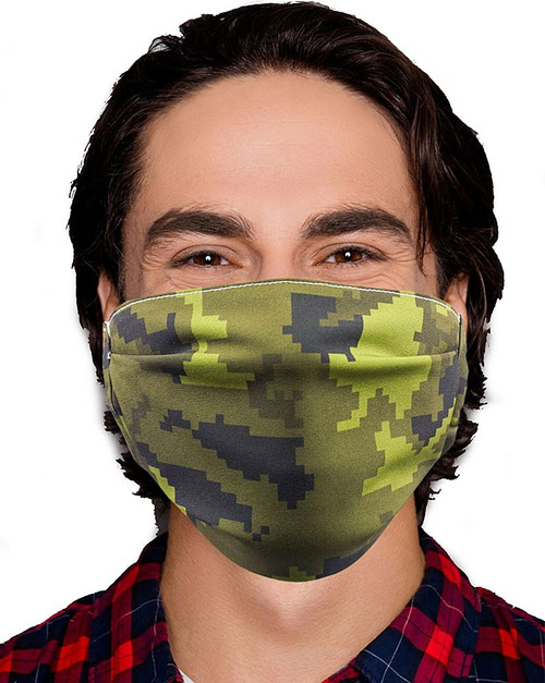 Gotta Get it Gifts Polyester / Spandex, Fabric, Adjustable, 2-Layer Reusable & Washable Camo Face Mask [One Size Fits All]
