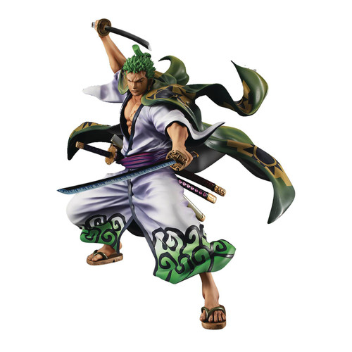 One Piece Portrait of Pirates: Warriors Alliance Roronoa Zoro 7.5-Inch Collectible PVC Figure [Juro] (Pre-Order ships January)