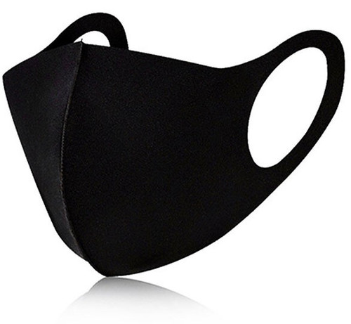 TWZ Reusable & Washable Black Face Mask [One Size Fits Most]