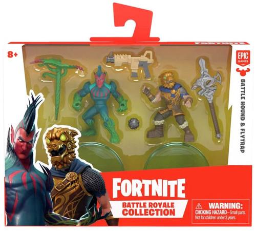 Fortnite Epic Games Battle Royale Collection Battle Hound & Flytrap 2-Inch Mini Figure 2-Pack [Damaged Package]