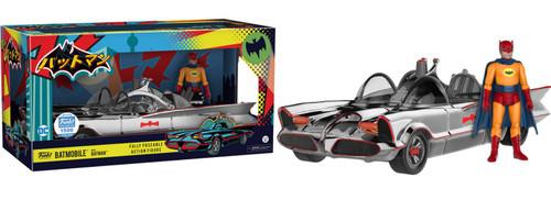 Funko DC Batman 1966 TV Series Chrome Batmobile with Batman Exclusive Action Figure Set [Damaged Package]