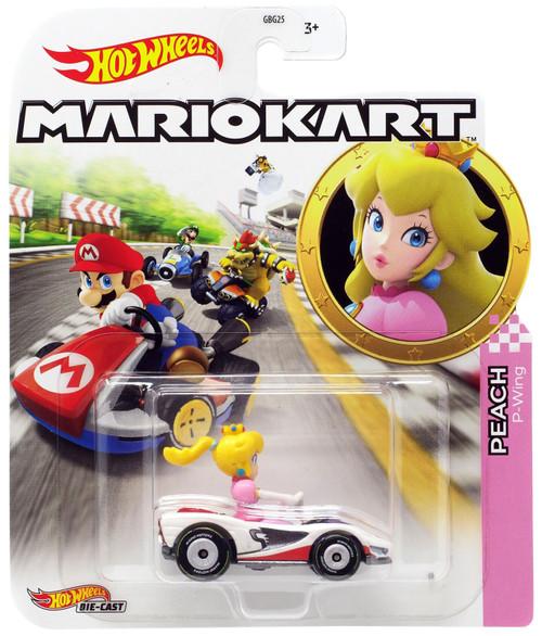 Hot Wheels Mario Kart Peach P-Wing Diecast Car