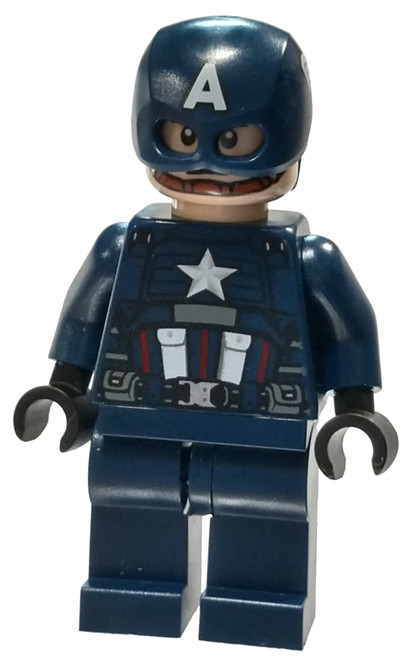 LEGO Marvel Super Heroes Avengers Captain America [Dark Blue Suit Loose]