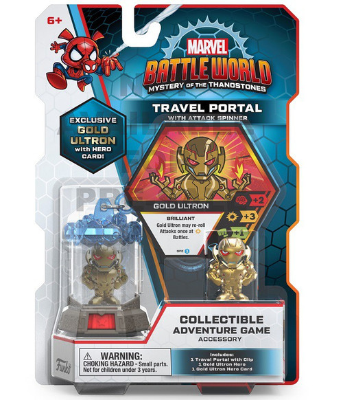 Funko Marvel Battleworld Mystery of the Thanostones Travel Portal with Attack Spinner Collectible Adventure Game Accessory
