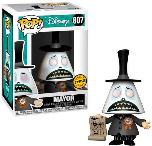 Funko Nightmare Before Christmas POP! Disney Mayor Vinyl Figure #807 [Chase Version, White Scared Face with Paper]