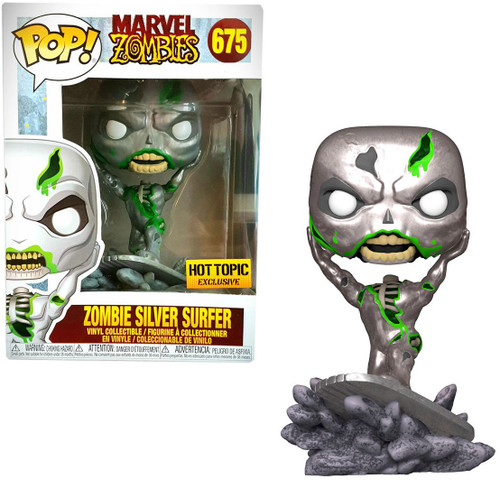 Funko Marvel Zombies POP! Marvel Silver Surfer Exclusive Vinyl Figure #675