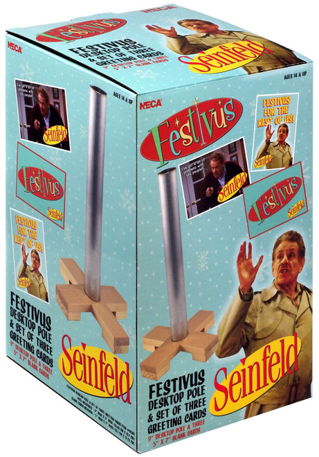 NECA Seinfeld Festivus Desktop Pole & Greeting Cards 9-Inch