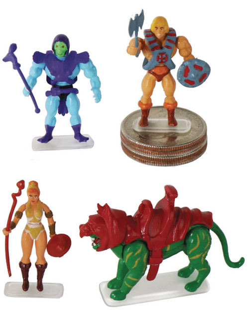 World's Smallest Masters of the Universe He-Man, Skeletor, Teela & Battle Cat 1.25-Inch Set of 4 Micro Figures