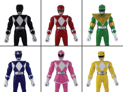World's Smallest Mighty Moprhin Power Rangers Black, Red, Green, Blue, Pink & Yellow Set of 6 Micro Figures