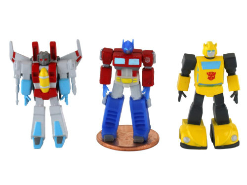 World's Smallest Transformers Optimus Prime, Bumblebee & Starscream 1.25-Inch Set of 3 Micro Figures